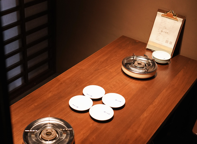 半個室テーブル席